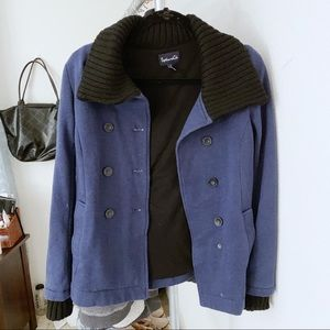 SPLENDID/ Double breasted button down cozy coat